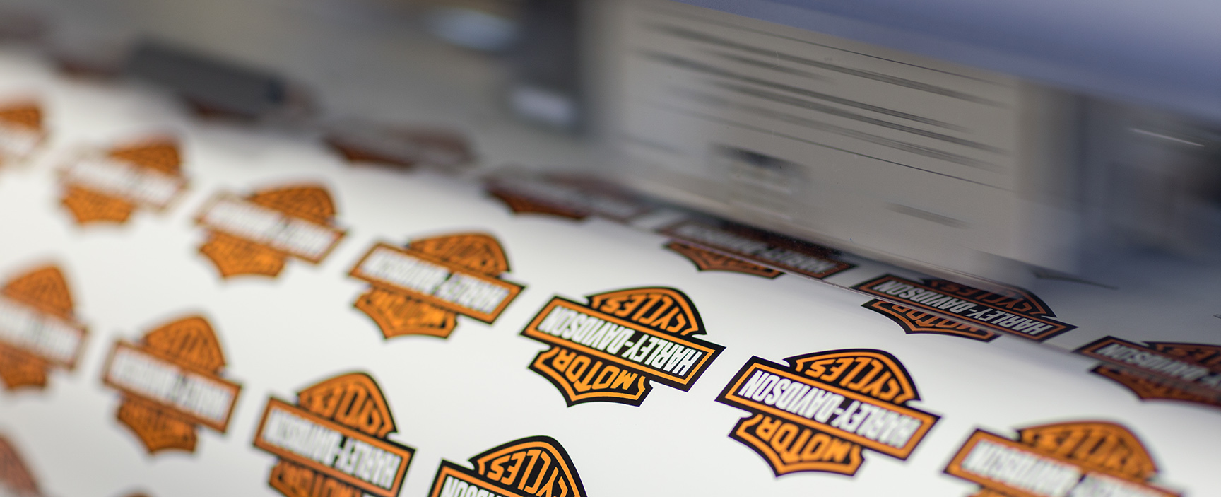 Motorbike stickers and labels