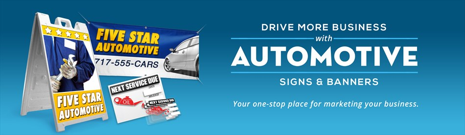 Car windscreen banners