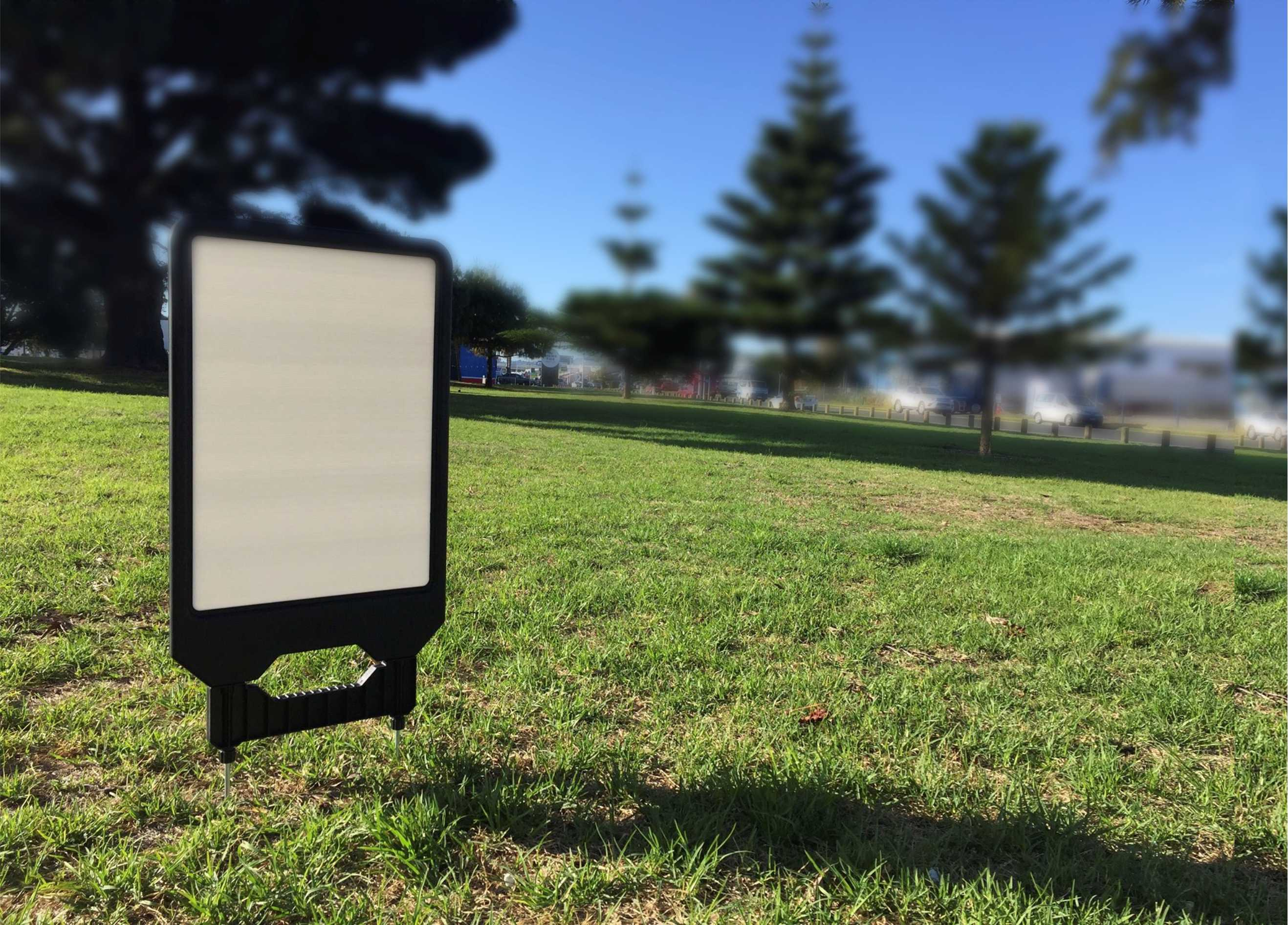 Brandstands interchangeable sign hardware makes it easily to slips a new message into the display housing with in mintues ...
