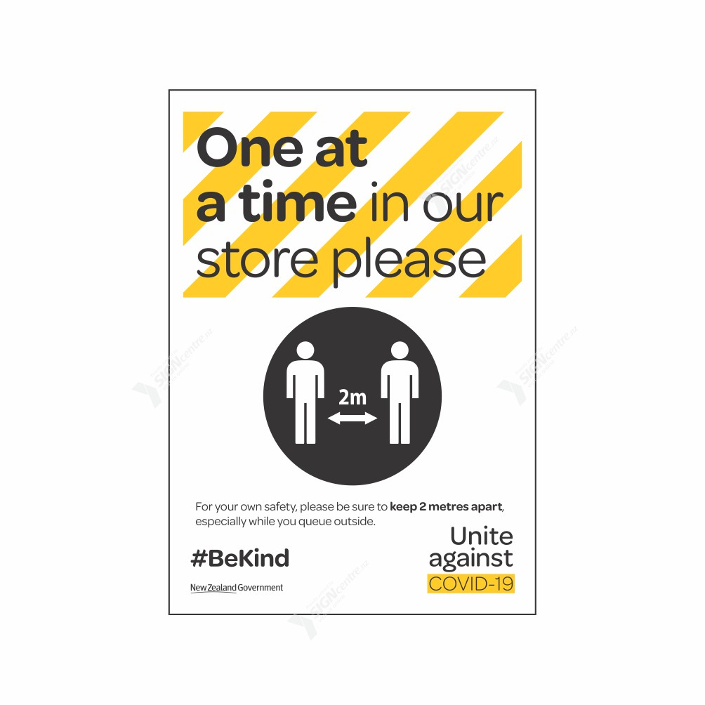 one-at a time-in-store-COVID19