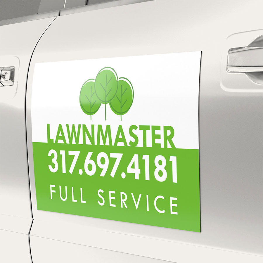 LAWN MOWNING MAGNETIC SIGNS